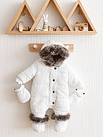 """Зимовий стьобаний комбінезон """"Аляска"""" колір хакі. Розміри 62,68,74 р."""