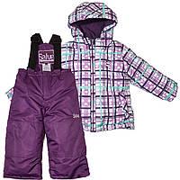 Зимний детский термокомплект Salve by Gusti, фиолетовый размеры 92-128