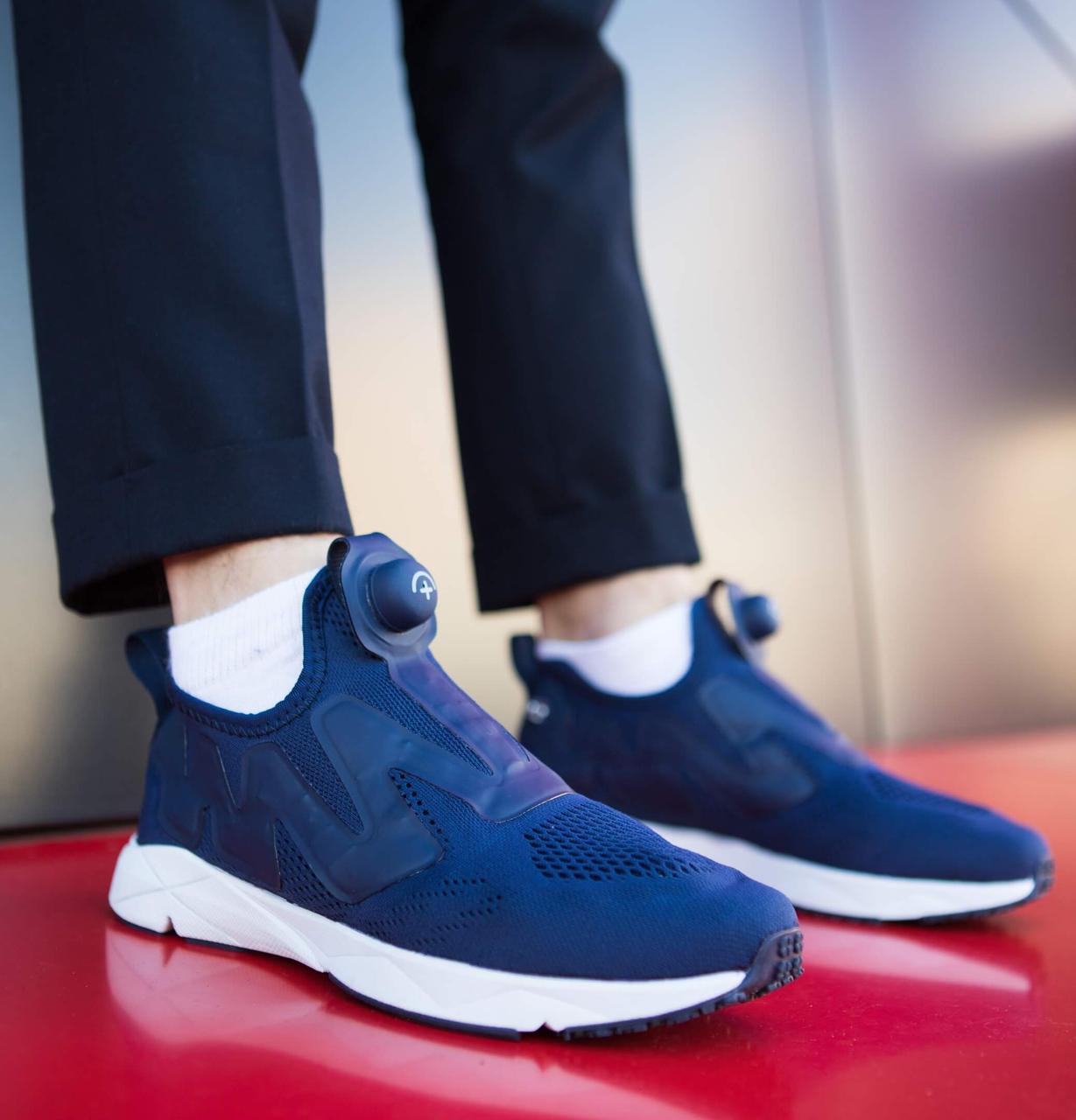 Мужские кроссовки Ветементс (синие)