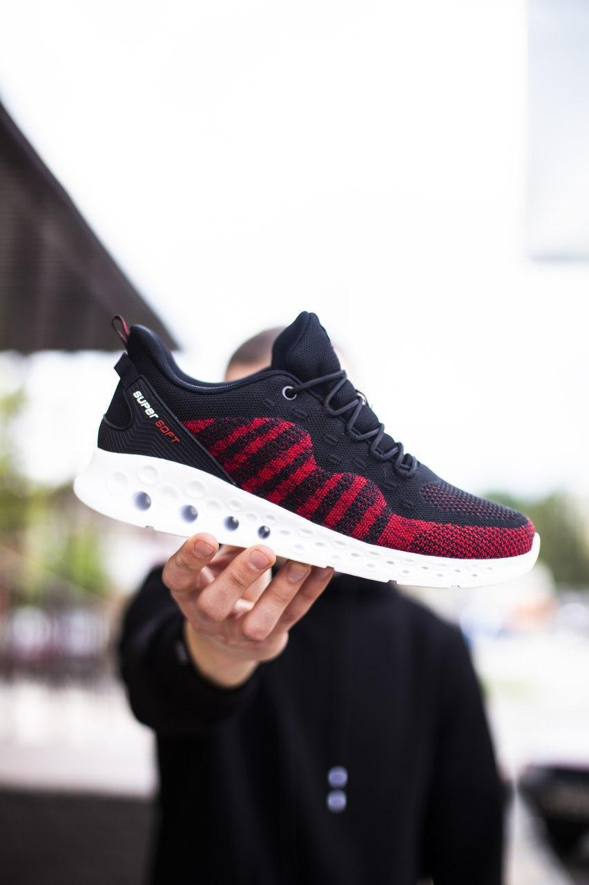Мужские кроссовки Саб Рейнхол (черно-красные)