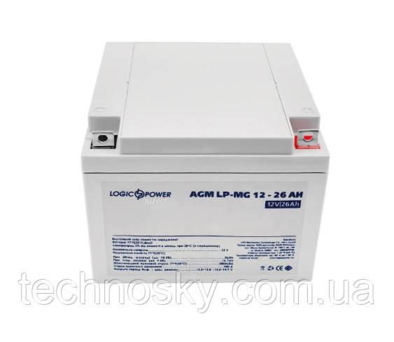 Аккумуляторная батарея LogicPower LPM-MG 12-26 AH (мультигелевый, AGM)
