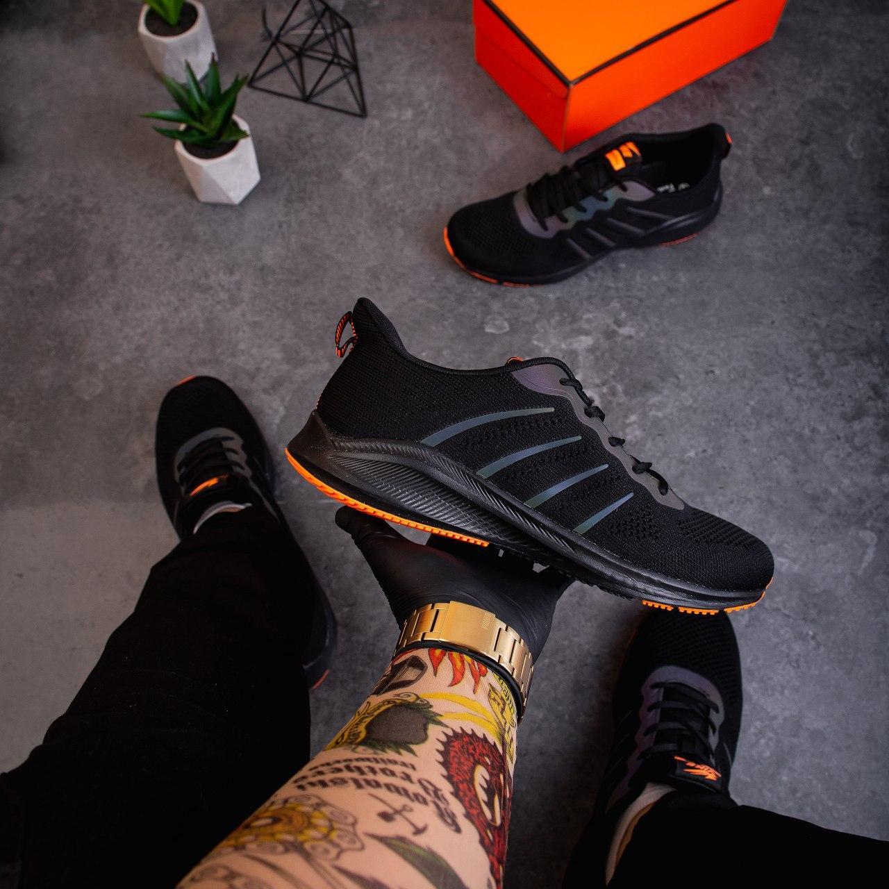 Чоловічі кросівки Яїк Заїр рефлект (чорні)