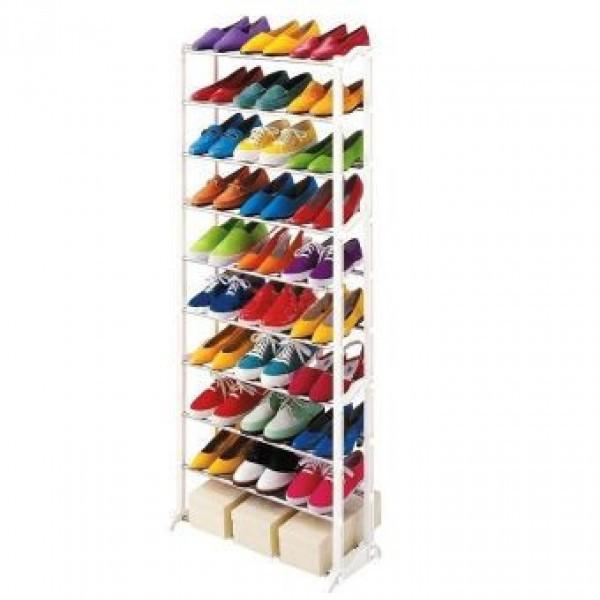 Вместительная Полка для обуви Amagazin shoe rack на 30 пар!Органайзер для обуви!!!