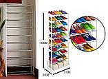 Вместительная Полка для обуви Amagazin shoe rack на 30 пар!Органайзер для обуви!!!, фото 3