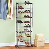 Вместительная Полка для обуви Amagazin shoe rack на 30 пар!Органайзер для обуви!!!, фото 4