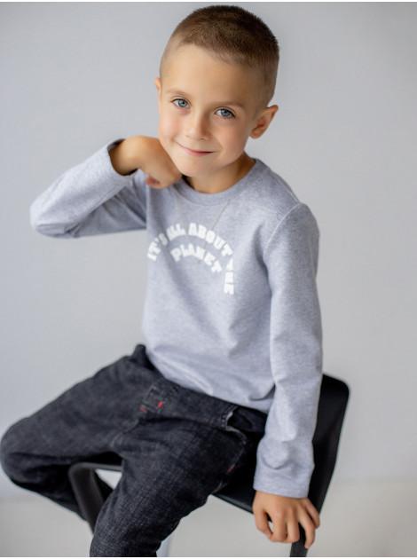 Хлопковая кофта - джемпер для мальчика приталенного кроя 122, 128, 134, 140