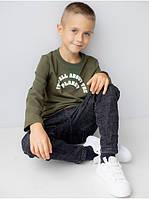 Стильная тонкая кофта для мальчика подростка в школу с круглой горловиной 122, 128, 134, 140, фото 1