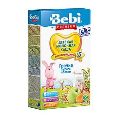 Молочна каша Bebi Premium Гречана з курагою і яблуком, 5+, 200г