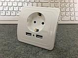 Розетка 220В + 2 USB порта!, фото 5