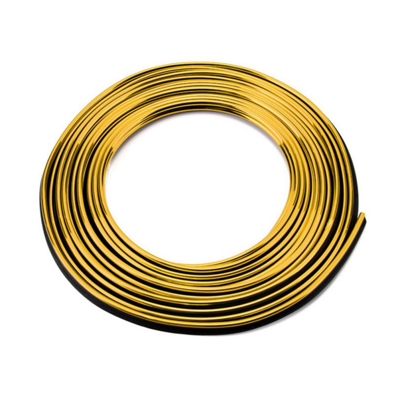 Молдинг декоративный для салона автомобиля ZIRY 5м, золото