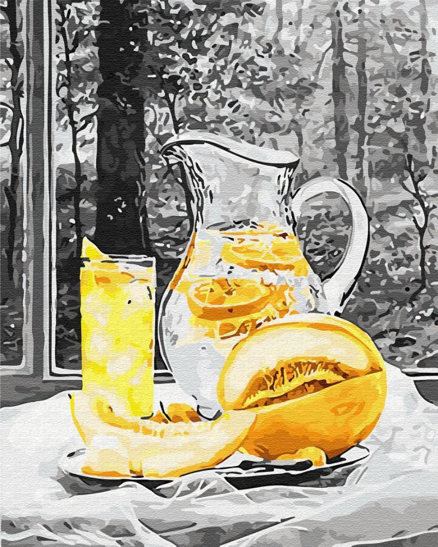 Картина рисование по номерам Brushme Лимонад и дыня BRM29751 40х50 см Для кухни набор для росписи краски,