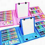 Большой набор для рисования в чемодане с мольбертом 208 предметов (Pink)!, фото 2