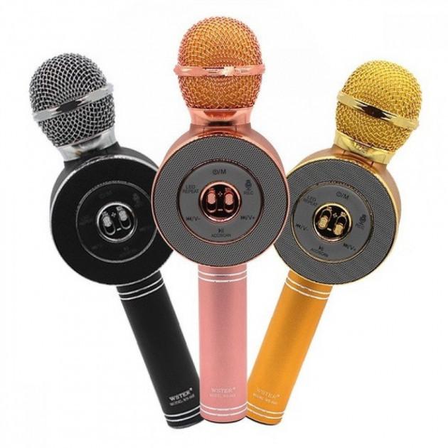 Портативный беспроводной микрофон-караоке Микрофон-колонка bluetooth WS-668