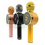 Портативный беспроводной микрофон-караоке Микрофон-колонка bluetooth WS-668, фото 2