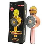 Портативный беспроводной микрофон-караоке Микрофон-колонка bluetooth WS-668, фото 3