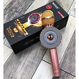 Портативный беспроводной микрофон-караоке Микрофон-колонка bluetooth WS-668, фото 4
