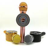 Портативный беспроводной микрофон-караоке Микрофон-колонка bluetooth WS-668, фото 6