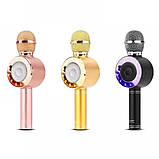 Портативный беспроводной микрофон-караоке Микрофон-колонка bluetooth WS-668, фото 8