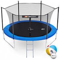 Батут Hop-Sport 10ft (305cm) blue з внутрішньою сіткою 3 ноги