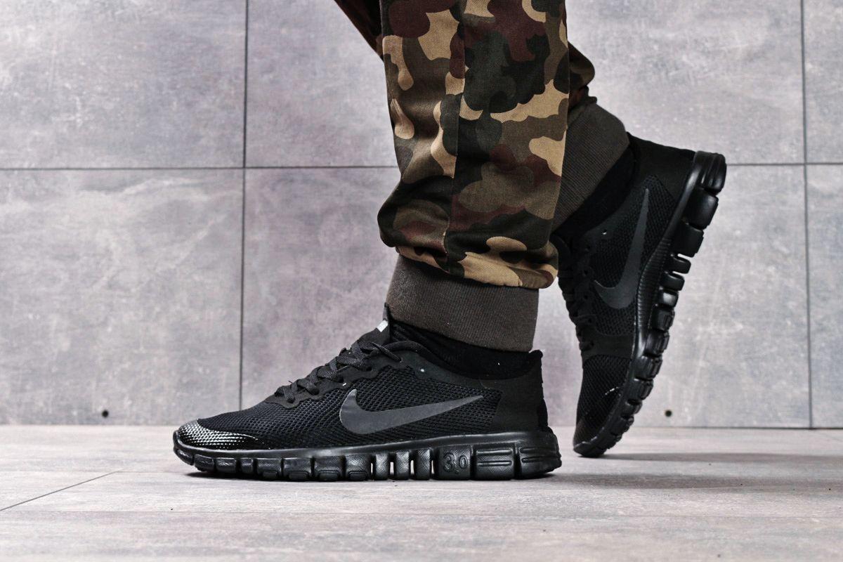 Кроссовки мужские Nike Free 3.0 (топ ААА) черные