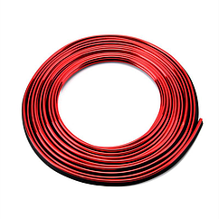 Молдинг декоративный для салона автомобиля ZIRY 5м, красный металлик