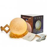 Детский Ночник светильник Луна 3D AVVS tech Moon, фото 2