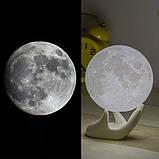 Детский Ночник светильник Луна 3D AVVS tech Moon, фото 6