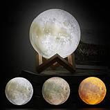 Детский Ночник светильник Луна 3D AVVS tech Moon, фото 9