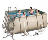 Каркасный бассейн BESTWAY 56248. Складной бассейн с насосом.