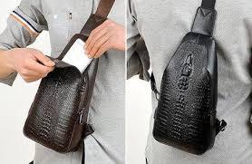 Мужская сумка через плечо «Alligator» BAG FEIDIKABOLO  (кориченевый, чёрный)!