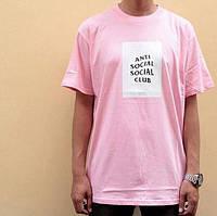 Футболка ASSC Pink   Бирки Anti Social Social Club   Мужская розовая