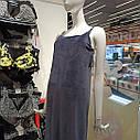 Сорочка жіноча нічна, велюр, темно синього кольору. ТМ Komilfo. S. M. L. XL. XXL, фото 3