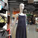 Сорочка жіноча нічна, велюр, темно синього кольору. ТМ Komilfo. S. M. L. XL. XXL, фото 2