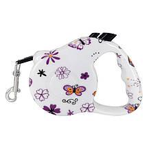 Поводок Рулетка для собак с кнопочным блокиратором (3м) RETRACTABLE DOG LEASH