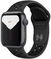 Apple Watch 5 Nike Koperta 44 mm Gwiezdna Szarość z Aluminium z Paskiem Sportowym Czarny