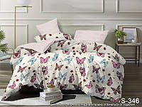 Комплект постельного белья Бабочки Сатин-люкс Евро