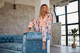 Пижама комбинезон с карманом (вырезом) на попе теплая розовая, фото 3