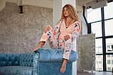 Пижама комбинезон с карманом (вырезом) на попе теплая розовая, фото 8
