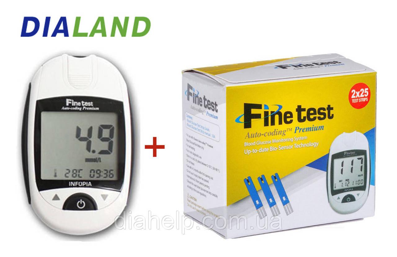 Глюкометр Файнтест Преміум (Finetest Premium) + 50 смужок