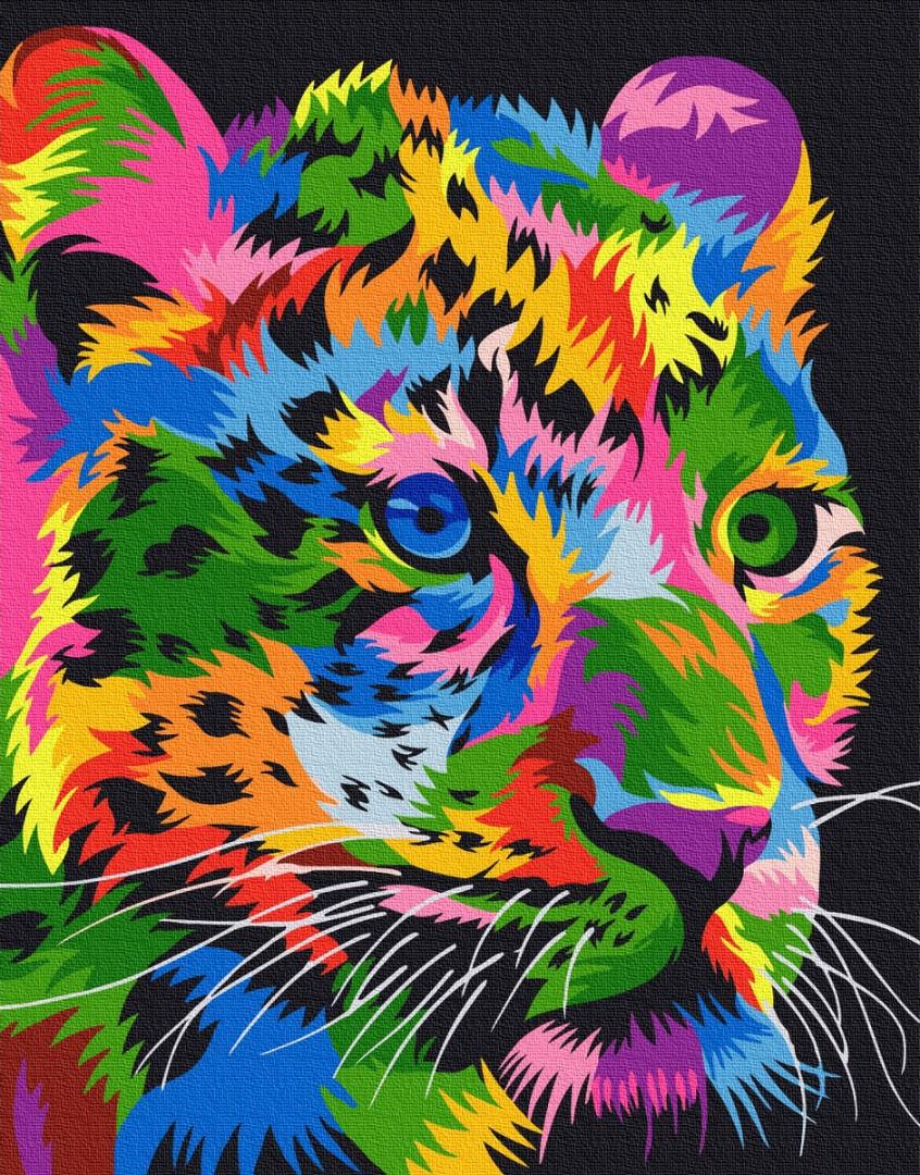 Картина по номерам Пятнистый леопард 40х50 Yarik's (без коробки)