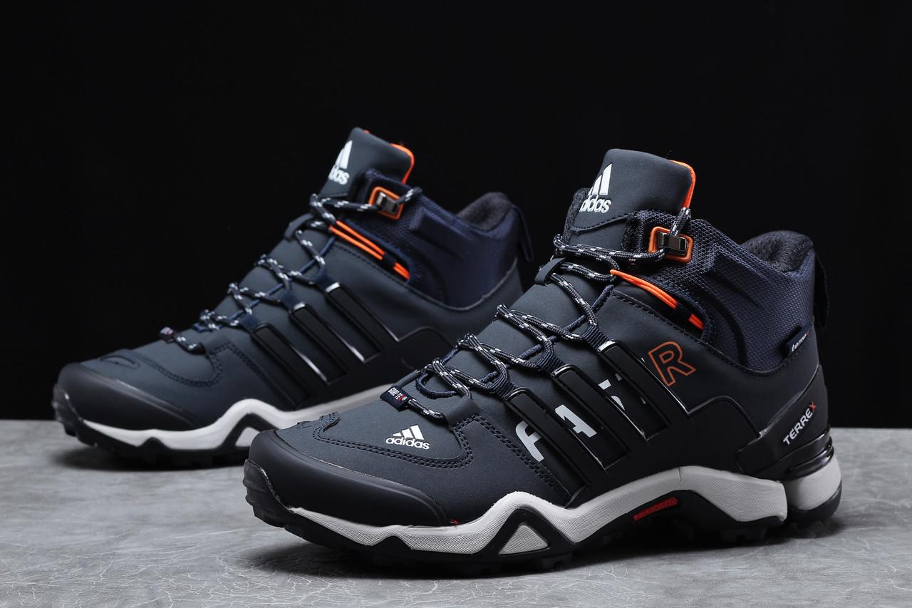 Зимние мужские кроссовки Adidas Terrex Gore Tex темно-синие