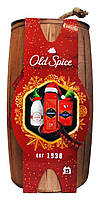 Набор Old Spice Captain в деревянном бочонке (лосьон после бритья+дезодорант стик+гель для душа)