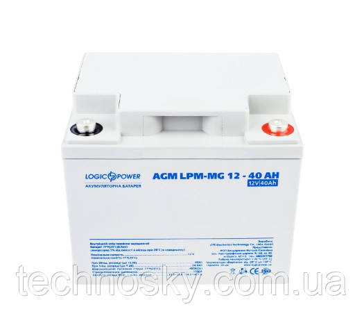 Аккумуляторная батарея LogicPower LPM-MG 12-40 AH (мультигелевый, AGM)