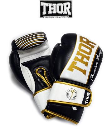 Боксерські рукавички THOR THUNDER (PU) BLK, фото 2