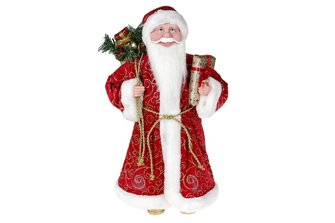 Новогодняя декоративная игрушка Санта 45см, цвет - красный BonaDi NY14-525