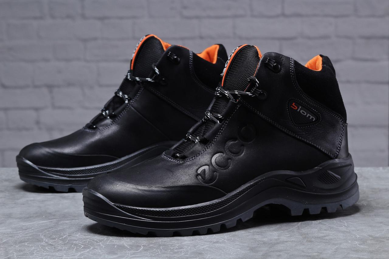 Зимние мужские ботинки Ecco Biom черные