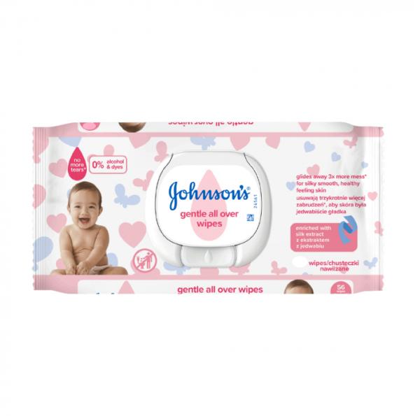 Детские влажные салфетки Johnson's Baby Лагідна турбота 72 шт (с клапаном)