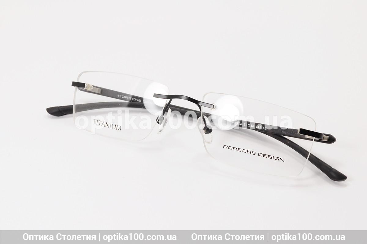 Безободковая лёгкая оправа для очков в стиле Porsche Design. На среднее лицо