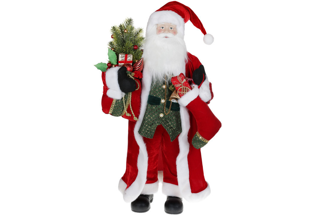 Мягкая игрушка Санта 90см, цвет - красный BonaDi 845-230