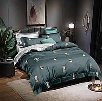 Двоспальне постільна білизна 180х220 сатин_хлопок 100% (15704), фото 1